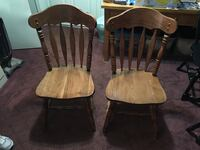2 solid maple chairs Smithfield, 02917