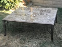 """Large Stone Coffee Table 43 x 49"""" Placentia, 92870"""