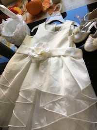 Flower girl dress , shoes and basket Catonsville, 21228