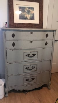 white wooden 5-drawer chest Los Angeles, 90039