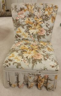Vintage Upholstered Vanity Chair  Chadds Ford