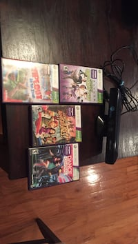 Xbox kinect console with games