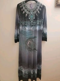 black and gray floral long-sleeved dress Edmonton, T5A 2N9
