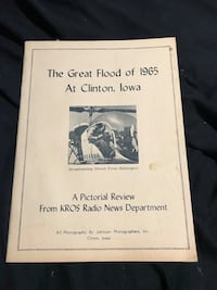 1965 vintage book on the Floods of clinton iowa