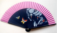 Brand NEW Japanese Hand painted Silk Bamboo Folded Hand-fan In Package. Austin, 78753