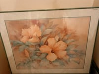 white and orange petaled flowers painting Tampa, 33617