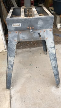 Black metal miter saw stand with wheels   Los Angeles, 91345