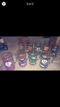 Libbey Vintage nfl beer glass mugs early 90s rare new! Rochester Hills, 48306