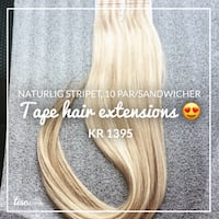 Nytt tape hair extensions, blondt  Figgjo, 4332