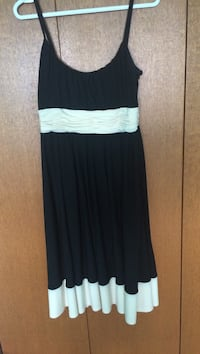 Jones of New York black and white spaghetti strap dress . Size S Worn once