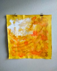 Original Abstract Painting Small Tapestry 23x23 in Gilbert