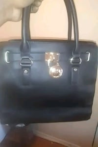 black leather 2-way handbag Hyattsville