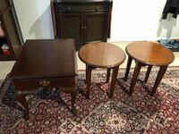three brown wooden side tables Fairfax, 22032
