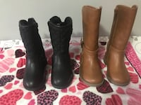 Pair of brown leather boots Mississauga, L5R 3T1