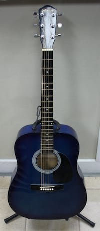 Johnson JG-610-B blue acoustic guitar