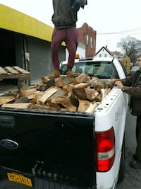 Firewood.full pickup truck. 8' bed