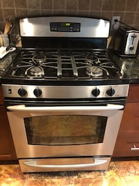 GE Gas Range Stainless Steel