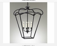 Beautiful Wrought Iron Chandelier WOODBRIDGE