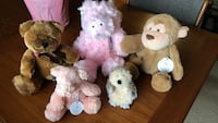 Assorted-color animal plush toys Alexandria, 22303