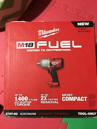 "Milwaukee 1/2"" high torque impact Toronto, M3L 1R5"