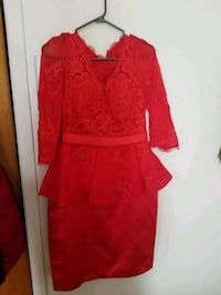 women's red long sleeve dress Montréal, H1H 4G5