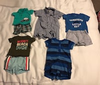 Newborn and 0-3M summer baby boy clothes