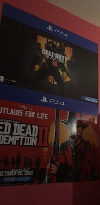 !!!!POSTER!!!!! Ps4 call of duty black ops 4 and red dead 2  Saint Charles, 63304