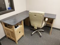 Small office desk grey beige Edmonton, T5K 0L5