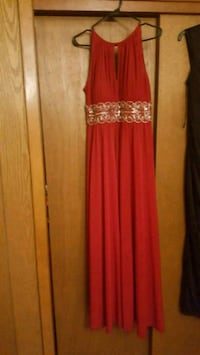 Red and silver formal dress Scott, 70583