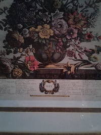 "Floral print ""MAY"" By H. FLETCHER Wood Framed * IF AD'S UP, IT'S STILL AVAILABLE 509 km"