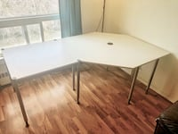 IKEA Corner Office Large Computer L Shape Workstation Desk Table