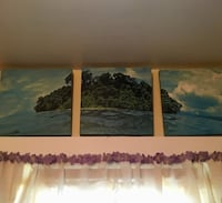 Three separate paintings that make up the earth Sebring, 33870