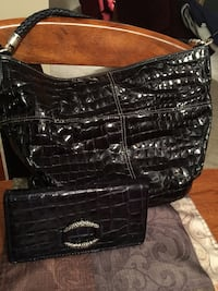 Brighton purse & wallet, like new, navy blue in color. Smoke free home.  [TL_HIDDEN]  Billings, 59102