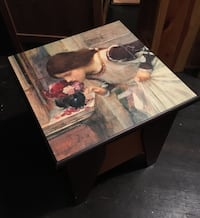 Side table Renaissance print and storage Vancouver, V6A
