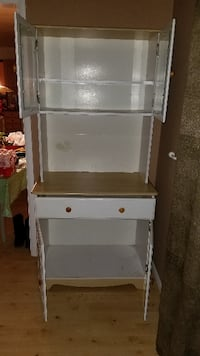 Wood and glass hutch cabinet Clarksville