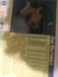 Don Mattingly baseball card