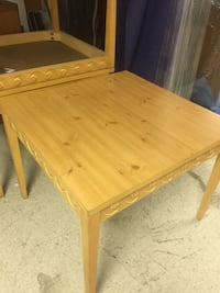 Rectangular brown wooden table (s). Make reasonable offers