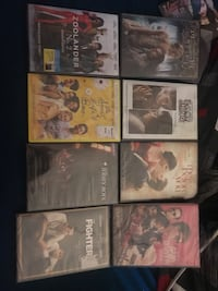 six assorted DVD movie cases San Jose, 95122