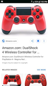 red and black Sony PS4 wireless controller screenshot Sarasota, 34243