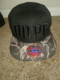 black and gray Big Bear Dope fitted cap