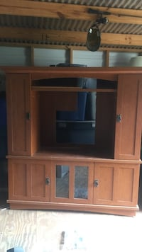 Solid oak wood home entertainment center Panama City Beach, 32413