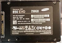 250GB Samsung 850 Evo SSD with Driver Disk 2317 mi