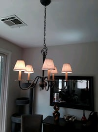 DINING ROOM CHANDELIER, 5 lights, 2 Styles Shades