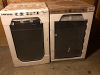 two black and gray front-load clothes washers New Britain, 06053
