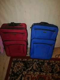 two blue and red luggage bags Melbourne, 32905