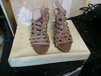 pair of brown leather gladiator sandals Stockton, 95205