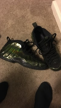 Pair of black Nike Foamposite