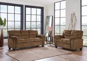 NEW 3 PCS LIVING ROOM SET JASMINE BROWN