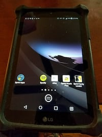 black LG android tablet with case