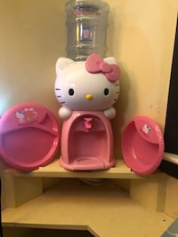 Hello Kitty Water Dispenser with 2 Matching Plates Hyde Park, 12601